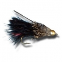 Fly - Marabou Muddler Black #6